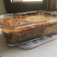 Lasagnes végé aux lentilles vertes et aubergines